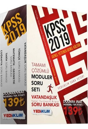 Yediiklim Yayınları 2019 KPSS Genel Yetenek-Genel Kültür Soru Bankası Modüler Set