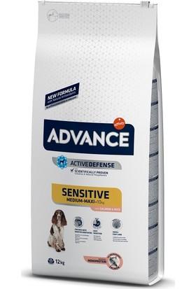 Advance Dog Sensitive Somonlu Pirinçli Hassas Yetişkin Köpek Maması 12Kg