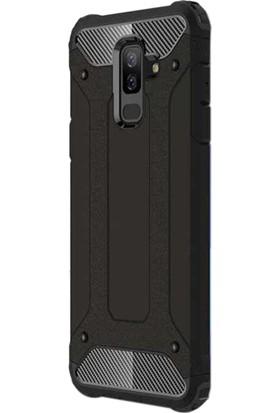 Microsonic Samsung Galaxy J8 Kılıf Rugged Armor Siyah