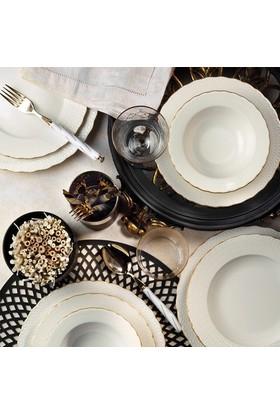 Kütahya Porselen Bone Ecem 24 Parça 6 Kişilik Fileli Yemek Takımı