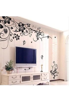 EvAşkı Çiçekli Salonlar Duvar Sticker