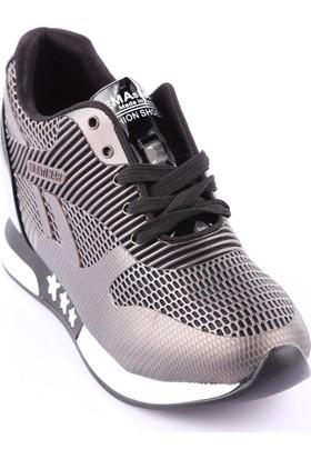 Guja 18K330-1 Kadın Gizli Dolgu Taban Bağcıklı Bilek Ayakkabı Gri