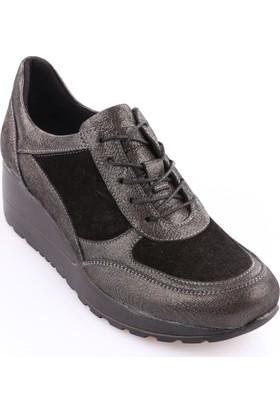 Dgn 6026 Kadın Dolgu Taban Casual Ayakkabı Çelik