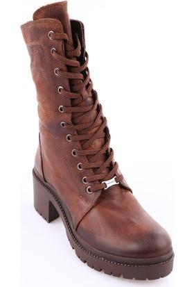 Mamma Mia D18Kb-1335 Kadın Ayakkabı Bot Kakao Nubuk