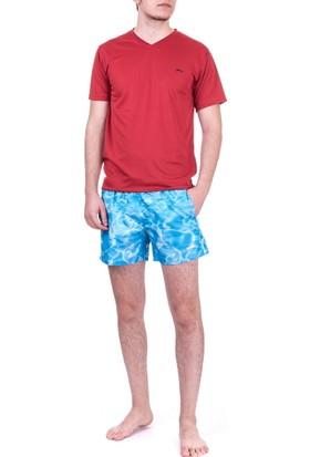 Slazenger Yago Erkek Deniz Şortu Mavi