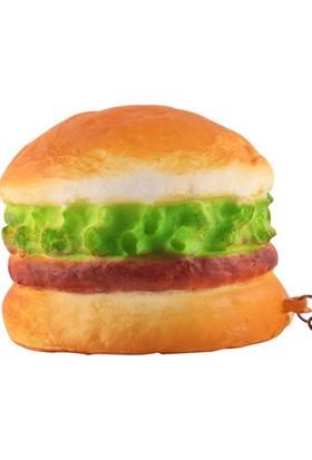 Brode Hamburger Squishy Anahtarlık Kokulu Yavaş Yükselen Oyuncak Sukuşi