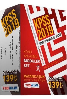 Yediiklim Yayınları 2019 KPSS Genel Yetenek - Genel Kültür Konu Anlatımlı Modüler Set