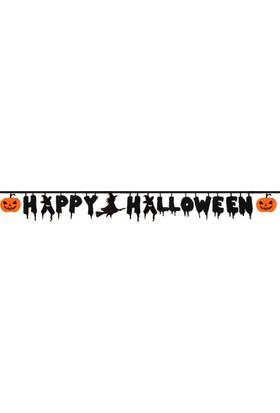 PartiBulutu Happy Halloween Balkabağı Figürlü Keçe Süs