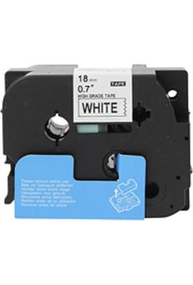 Brother P Touch M Tape M12K231 Beyaz Etikete Siyah 12Mm 8M
