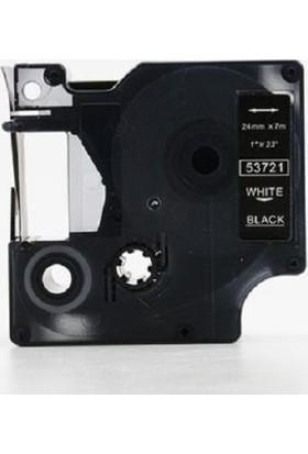 Prıntpen Dymo D1 Serisi Siyah Etikete Beyaz 53721 24Mmx7M Şerit