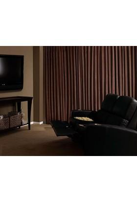 Evsa Home Blackout Karartma Güneşlik Perde Pilesiz V - 5 Kahve - 100x210 cm