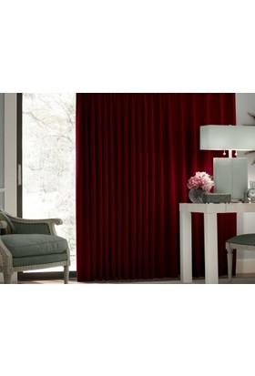 Evsa Home Blackout Karartma Güneşlik Perde Pilesiz Bordo - 100x210 cm