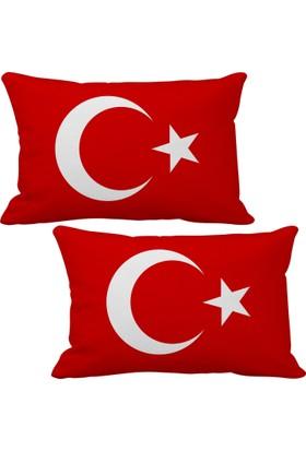 Asr Türkiye Turkey Bayrak 2 Li Lüks Araç Boyun Yastığı