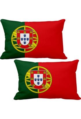 Asr Portekiz Portugal Bayrak 2 Li Lüks Araç Boyun Yastığı