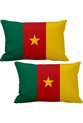 Asr Kamerun Cameroon Bayrak 2 Li Lüks Araç Boyun Yastığı