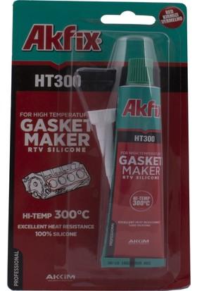 Akfix Ht300 Yüksek Isı Silikonu 50Ml,Tüp Kırmızı