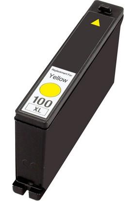 TNR Lexmark 100XL Muadil Kartuş Y 14N1071E Sarı
