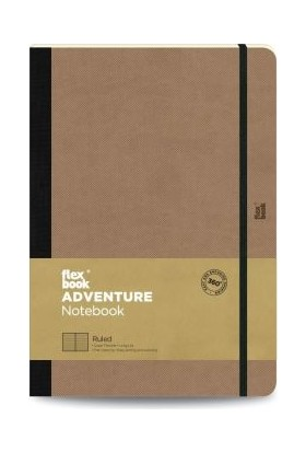 FlexBook 67 Adventure Esnek Not Defteri 17x24 cm Çizgili Camel