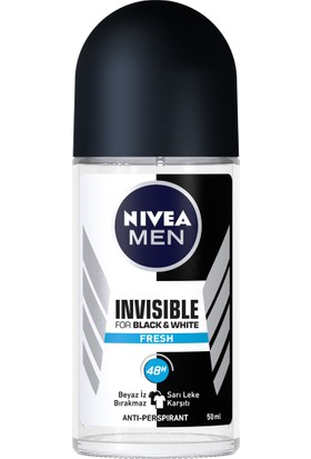 Nivea Roll-On Deodorant Inv B&W Fresh Erkek 50Ml