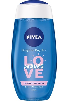 Nivea Love Waves Banyo Ve Duş Jeli 250Ml