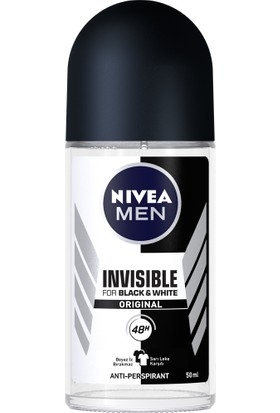 Nivea İnvisible Black&Whıte Power Roll-On Deodorant 50Ml Erkek