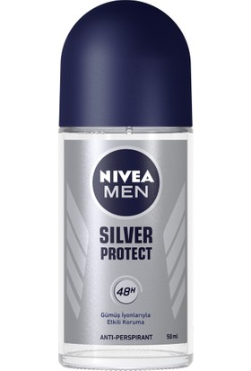 Nivea Silver Protect Roll-On Deodorant 50Ml Erkek