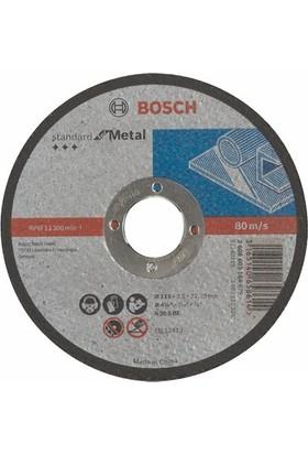 Bosch - Standard Seri Metal İçin Düz Kesme Diski (Taş) - A 30 S Bf, 115 Mm, 22,23 Mm, 2,5 Mm