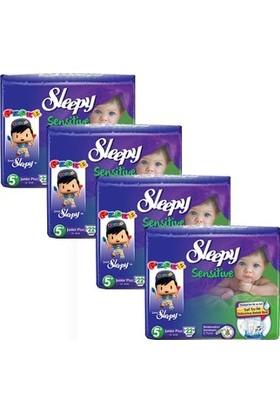 Sleepy Sensitive Bebek Bezi 5+ Beden Junior Plus Jumbo Paket 22X4 88 Adet