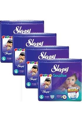 Sleepy Sensitive Bebek Bezi 6 Beden XL Jumbo Paket 20X4 80 Adet