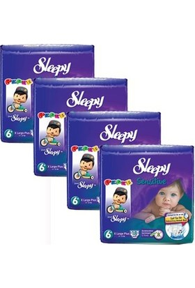 Sleepy Sensitive Bebek Bezi 6+ Beden XL Plus Jumbo Paket 18X4 72 Adet