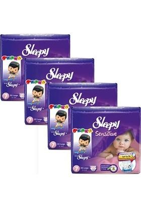 Sleepy Sensitive Bebek Bezi 7 Beden XXL Jumbo Paket 16X4 64 Adet
