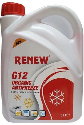 Renew G12 Organik Kırmızı Antifiriz -40C 3 Litre ( 2018 Üretim )