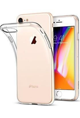 Rebber Apple iPhone 6 - 7 - 8 - Plus X İçin Şeffaf Kamera Korumalı Silikon Kılıf + Cam