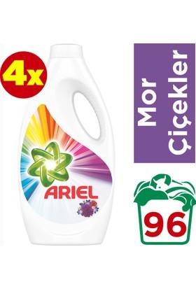 Ariel Sıvı Çamaşır Deterjanı Mor Çiçekler 24 Yıkama 4'lü Paket