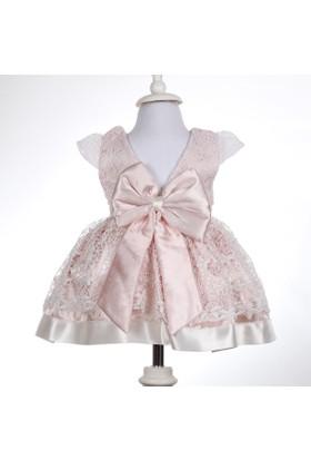 Bebeğime Cici Kız Bebek 5 Parça Dantelli Güllü Sırtı V Elbise