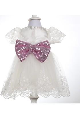 Bebeğime Cici Bebek Beyaz Elbise
