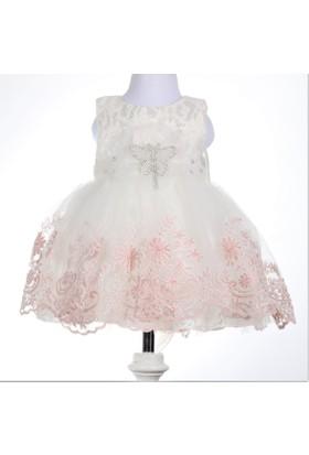 Bebeğime Cici Kız Bebek Pembe Güpürlü Mevlüt Elbisesi