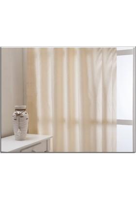 Evsa Home Lüx Saten Krem Güneşlik - 50x270 cm