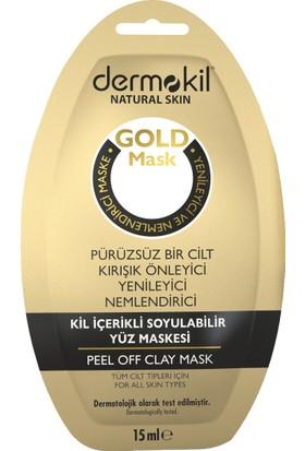 Dermokil Soyulabilir Kil İçerikli Gold Yüz Maskesi 15 ml