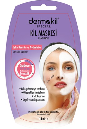 Dermokil Nem Desteği Sağlayan Maske (Argan Yağı&Kil) 15 Ml