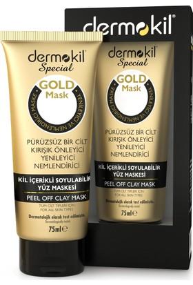 Dermokil Soyulabilir Kil İçerikli Gold Yüz Maskesi 75 ml
