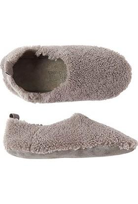 Pegia Hakiki Kürklü Bayan Ev Ayakkabısı Toast