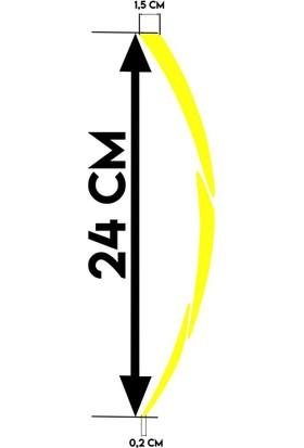 Çınar Extreme Beyaz Pcx Yazılı 3 Parçalı Floresan Sarı Pcx Jant Şeridi