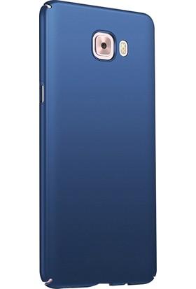 Ehr. Samsung Galaxy J7 Max Ultra Lüx Sert Rubber Kılıf + Nano Cam - Lacivert