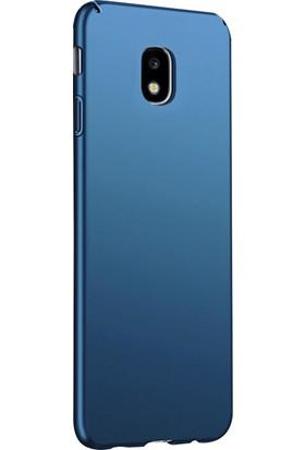 Ehr. Samsung Galaxy J3 Pro J330 Ultra Lüx Sert Rubber Kılıf + Nano Cam - Lacivert