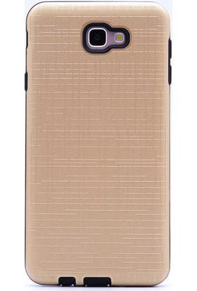 Ehr. Samsung Galaxy J7 Prime Ultra Lüx Tıpalı New Youyou Kılıf - Gold