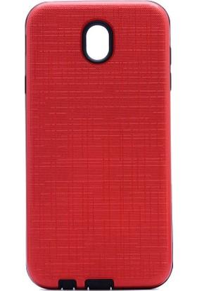 Ehr. Samsung Galaxy J3 Pro J330 Ultra Lüx Tıpalı New Youyou Kılıf + Nano Cam - Kırmızı