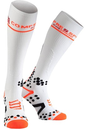Compressport Fsv211 00T Full Socks V2.1 Uzun Çorap Beyaz
