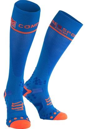 Compressport Fsv211 5080T Full Socks V2.1 Uzun Çorap Mavi