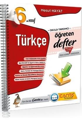 6.Sınıf Türkçe Öğreten Defter Çanta Yayınları - Mesut Solmaz
